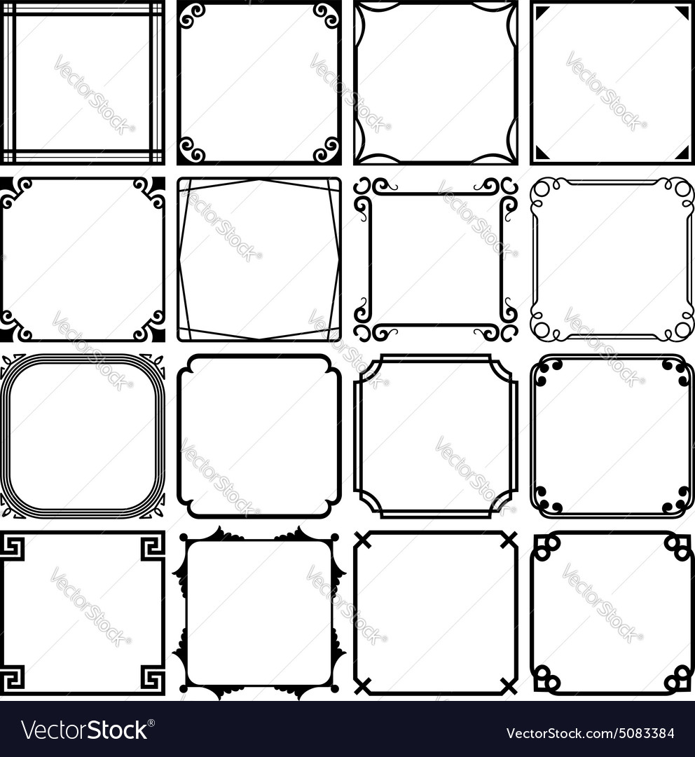 Simple frames Royalty Free Vector Image - VectorStock