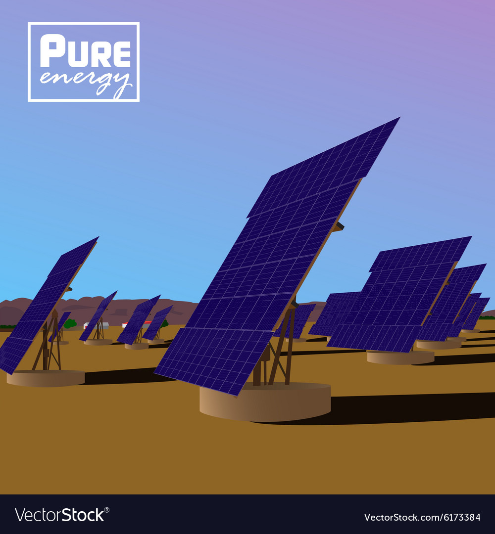 Solar power plant Eco saving technology