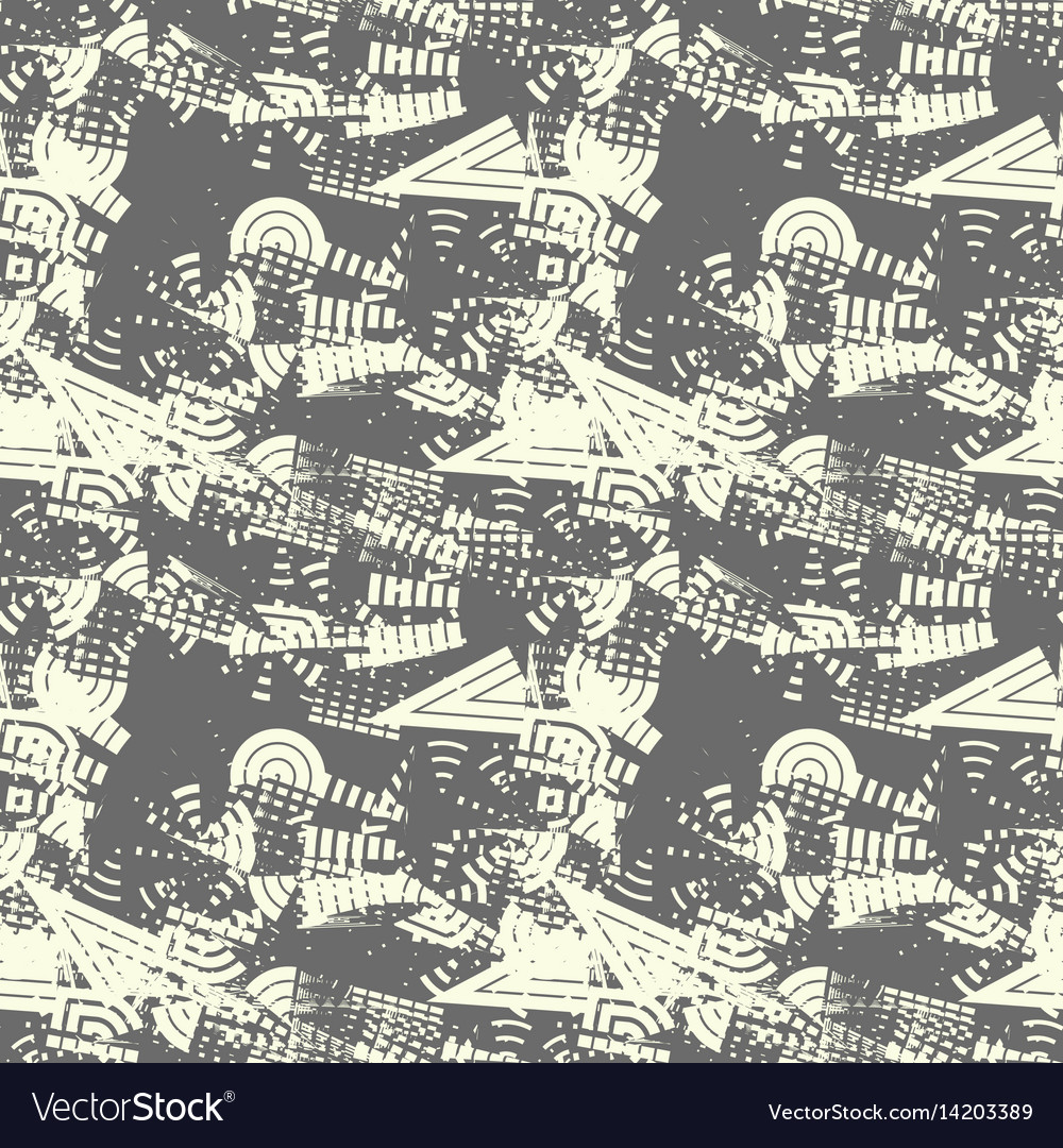 Abstract modern seamless pattern with soft beige g vector image