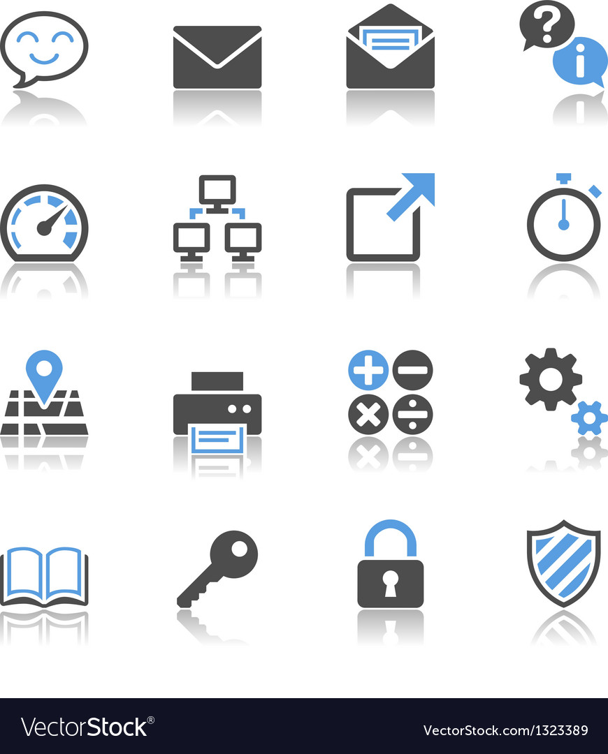 Application icons reflection