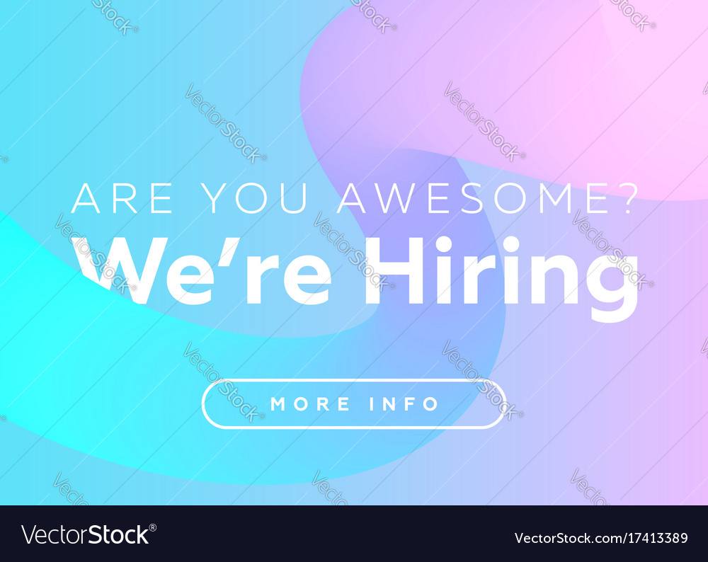 Are you awesome we are hiring creative business