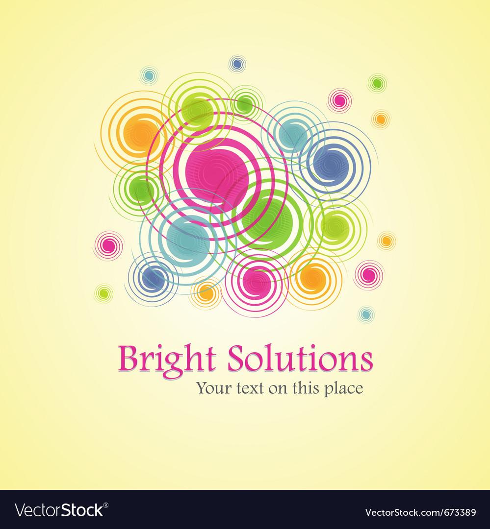 Bright solution background from spirals