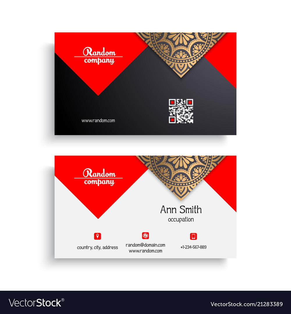 Business card vintage decorative elements