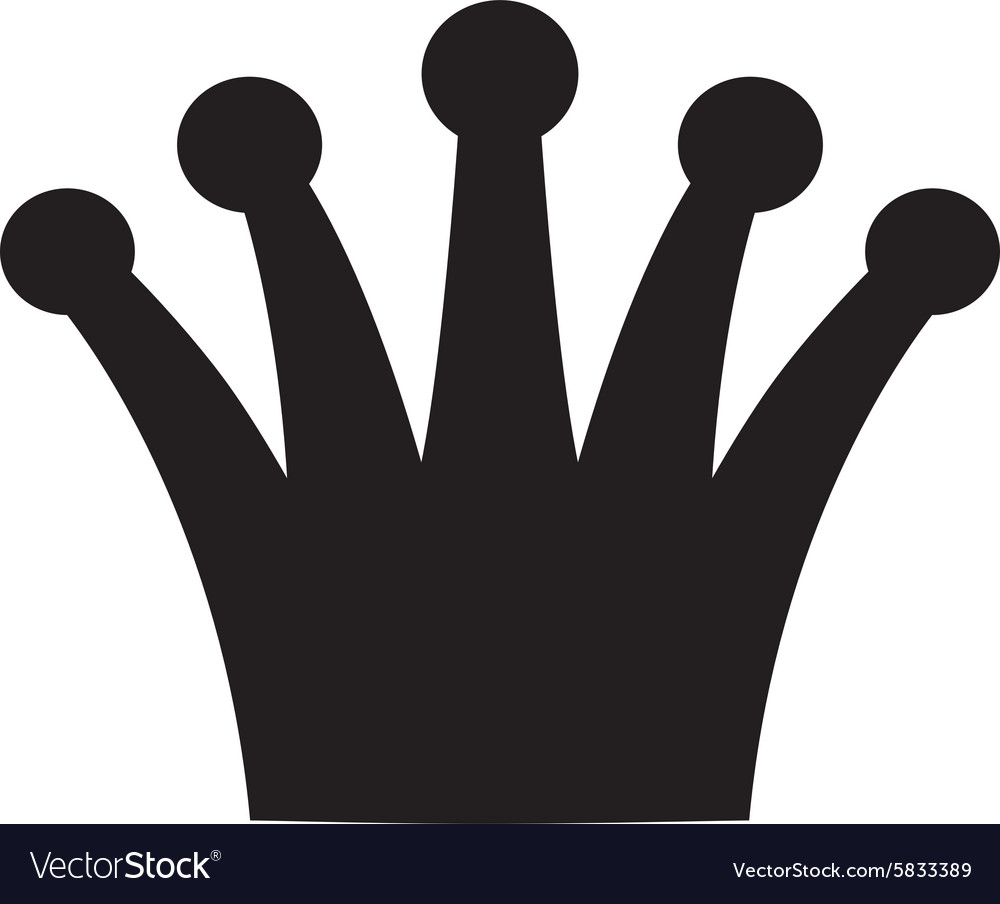 Crown black and white logo royal symbol