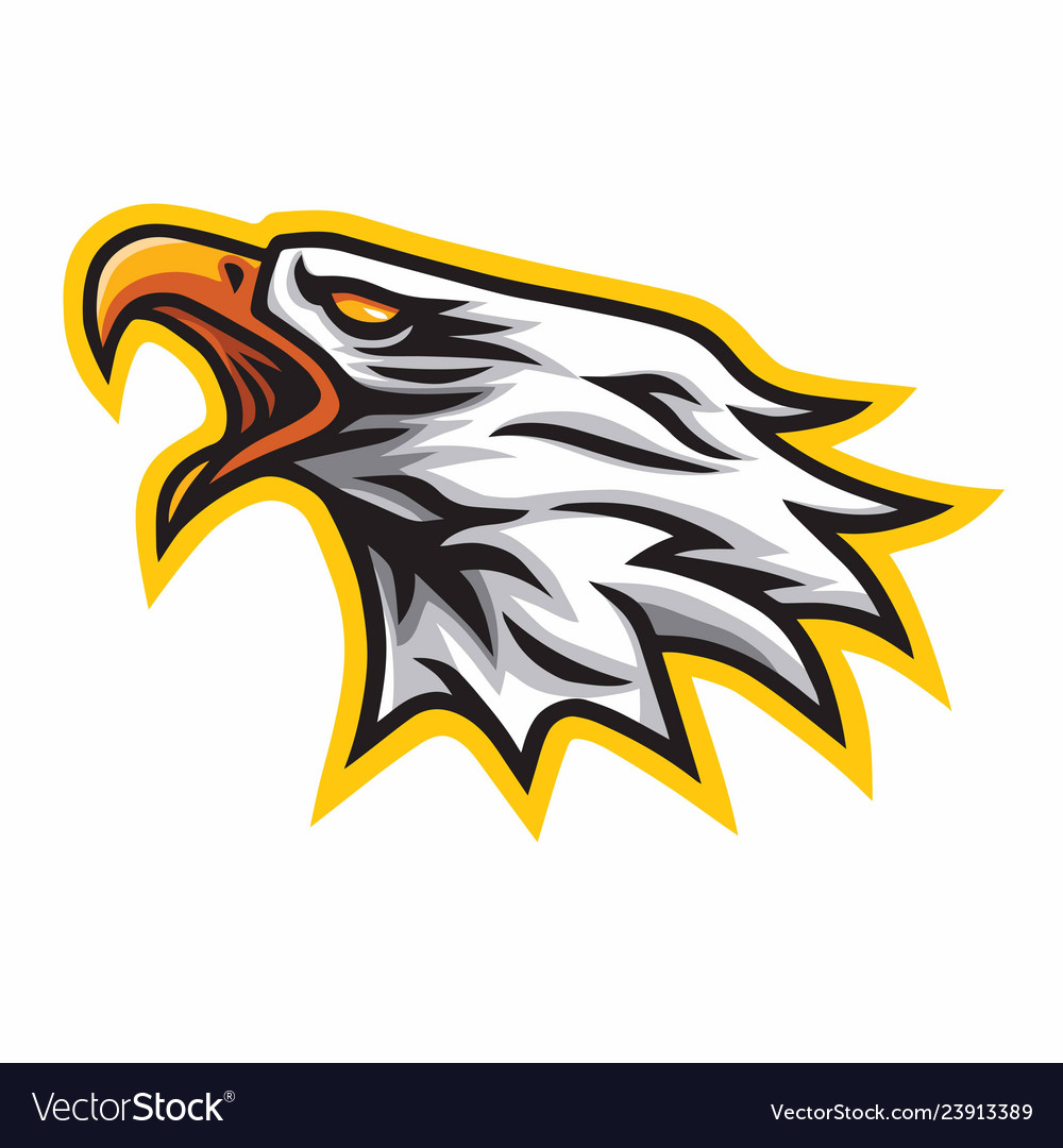 Eagle scream mascot logo sign