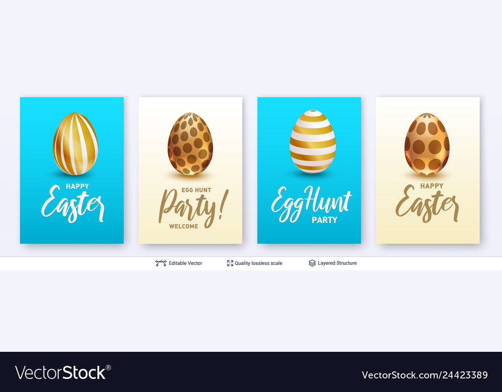 Easter backgrounds set bright templates