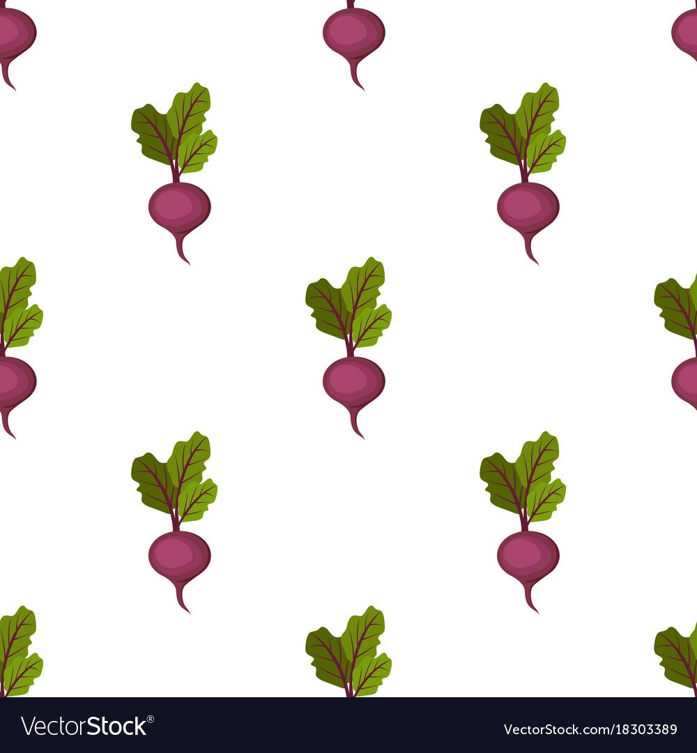Fresh organic purple sweet beet seamless pattern