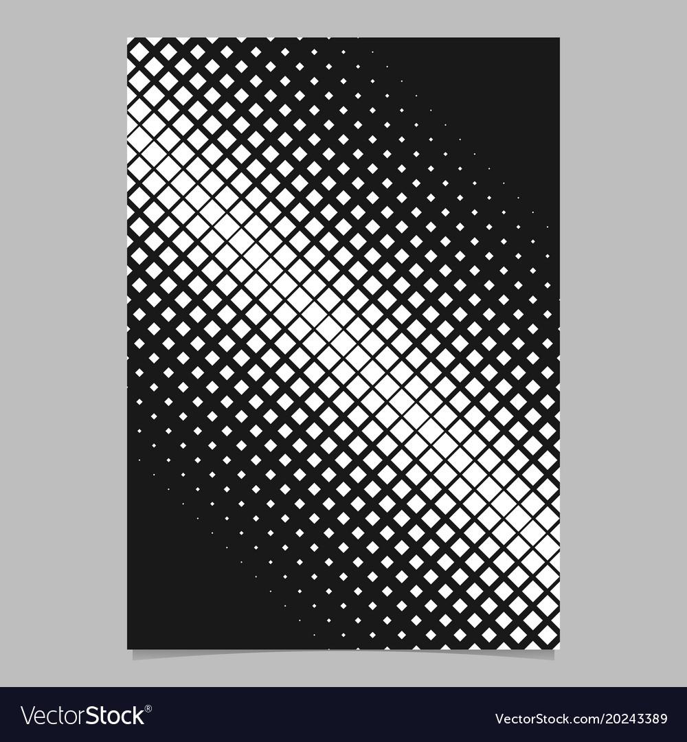 Geometric halftone diagonal square pattern vector image