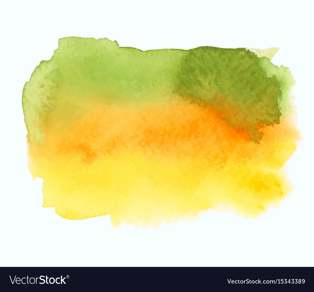 Green and yellow watercolor gradient banner