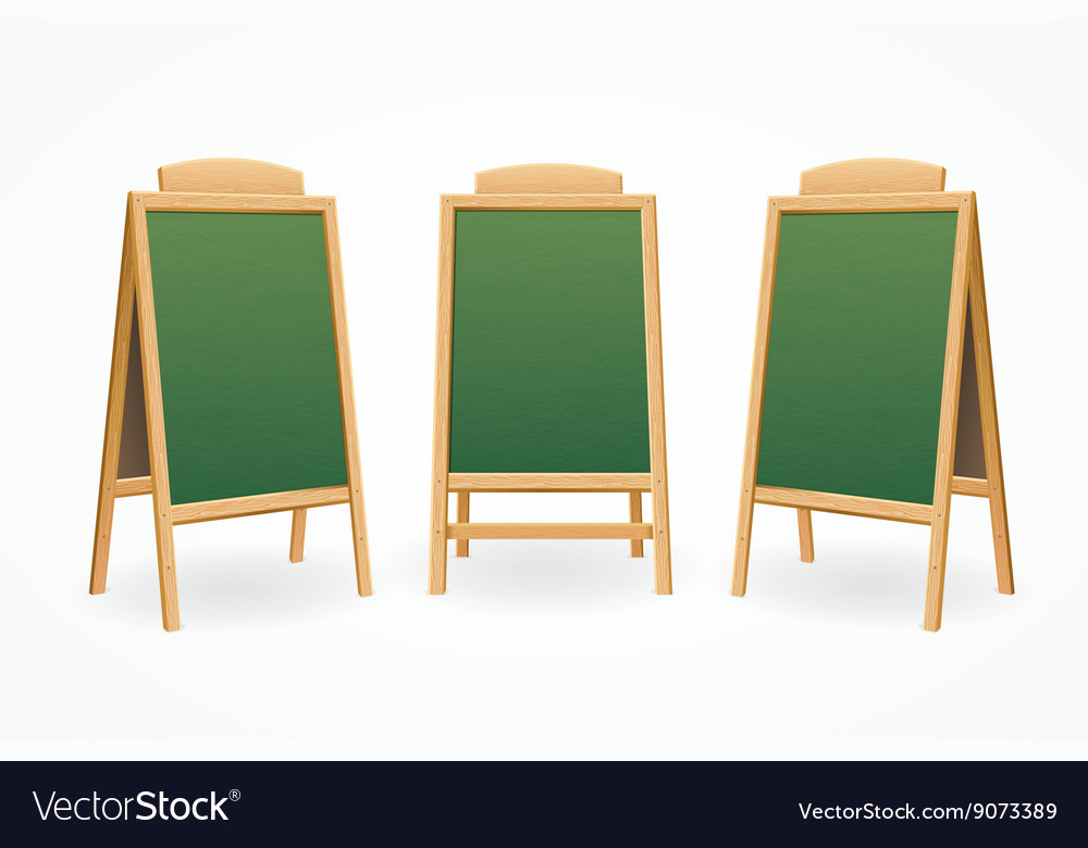 Menu Board Set Isolated vector image