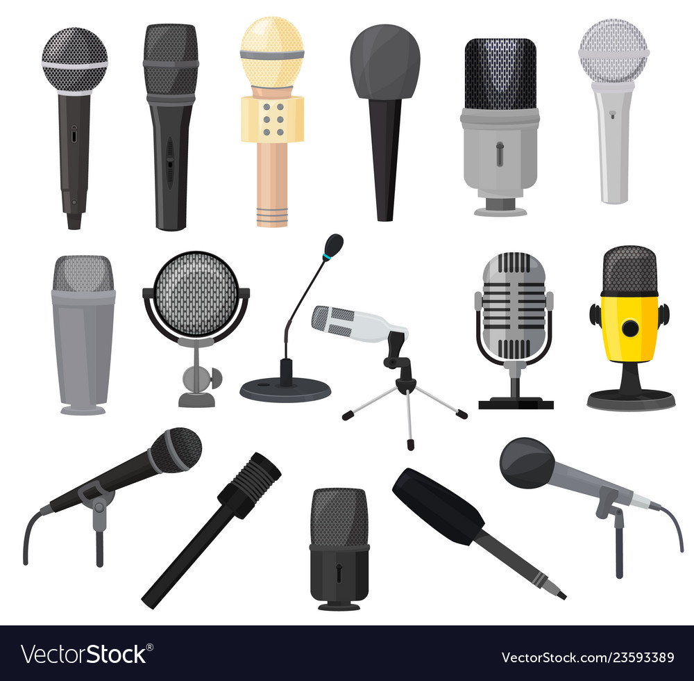 Microphone microphones for audio podcast