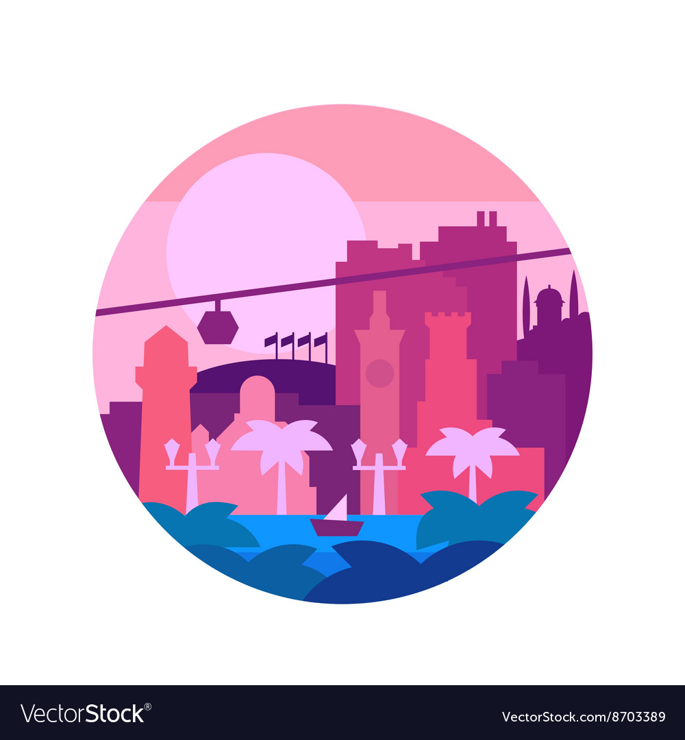 Quality painted flat colors and the city o palm