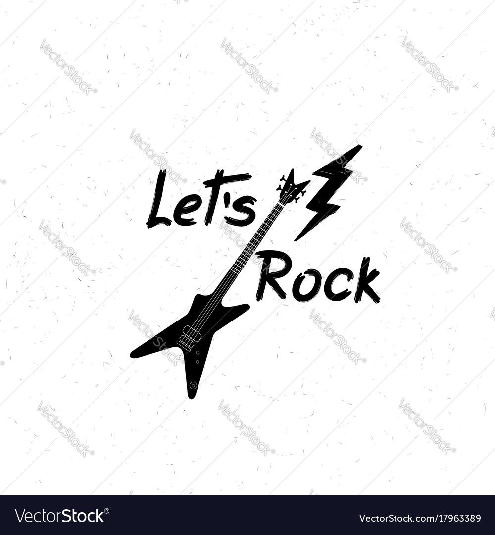 Rock music banner musical sign background lets