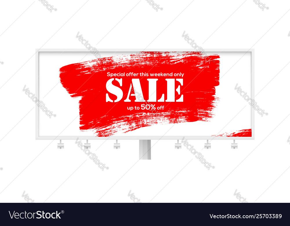 Sale creative billboard for ad sales