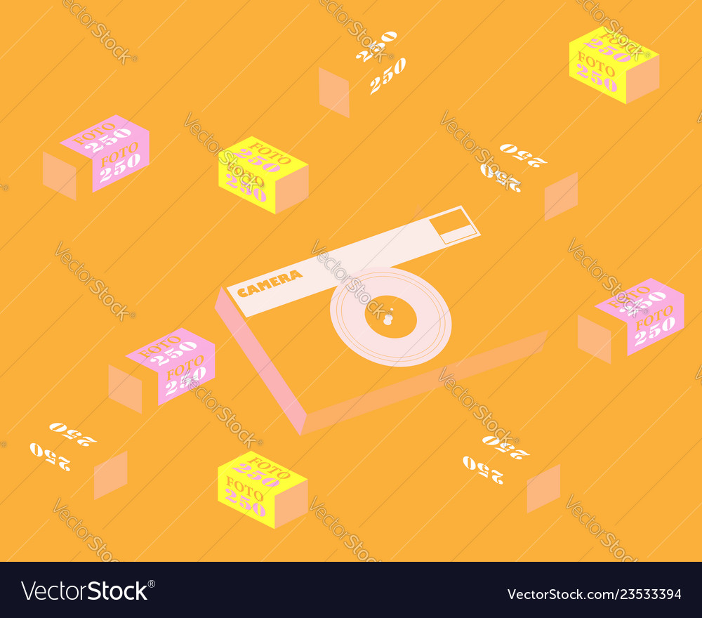 Abstract background with film camera and film in
