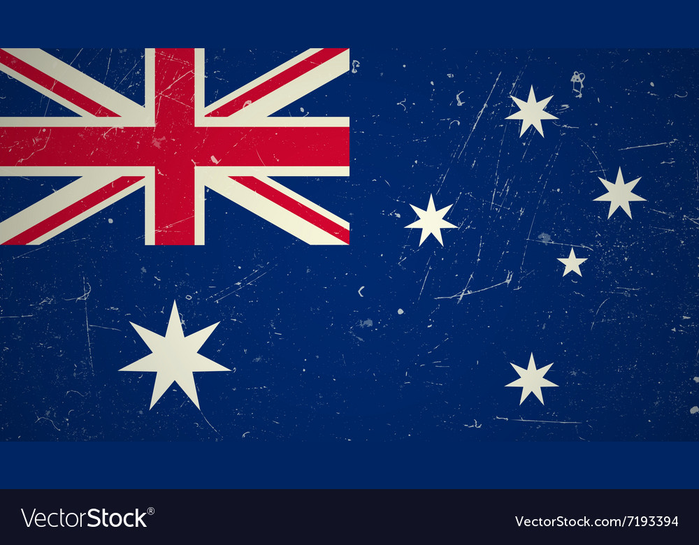 Australian flag with grunge texture