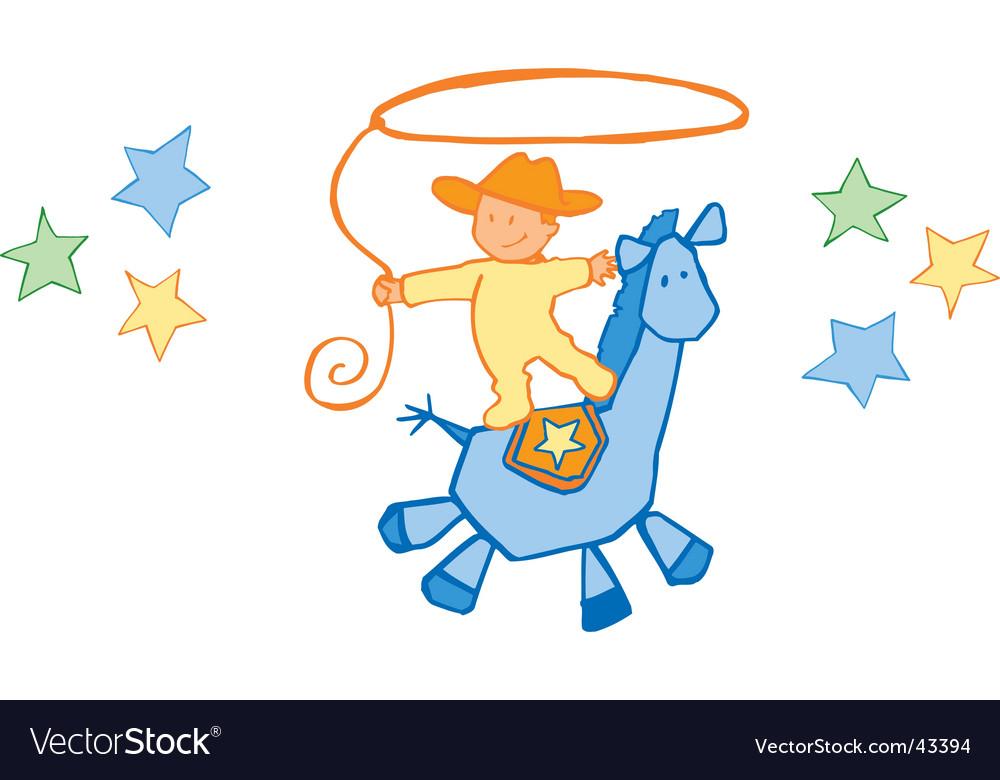 baby cowboy royalty free vector image vectorstock