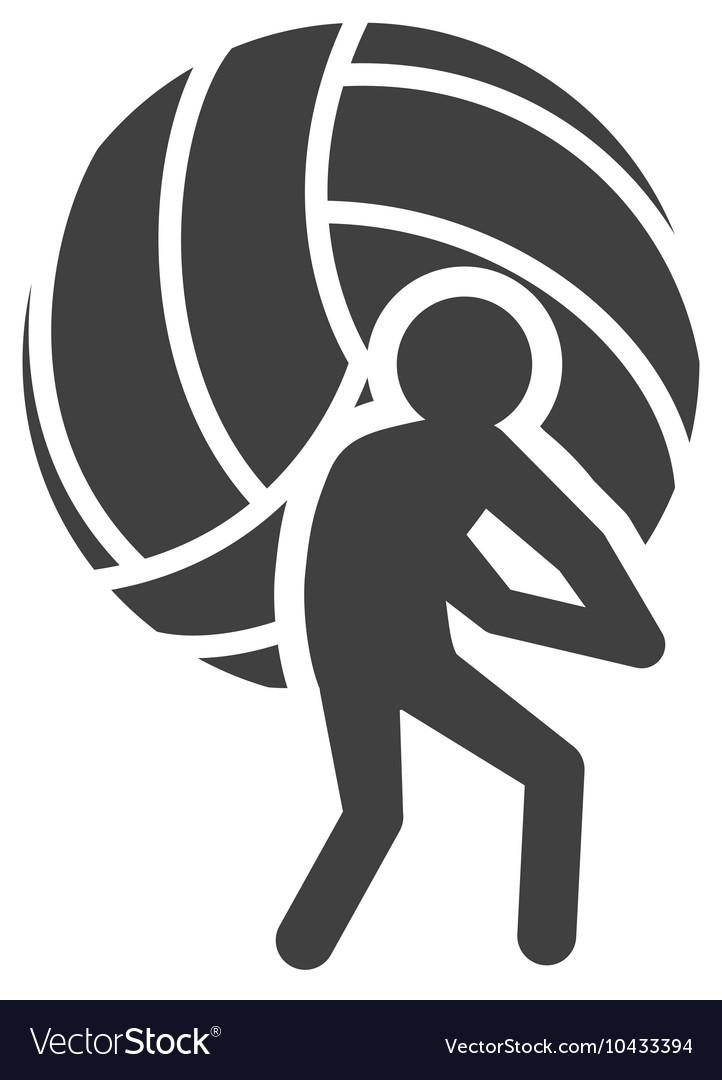 Ball volleyball sport design