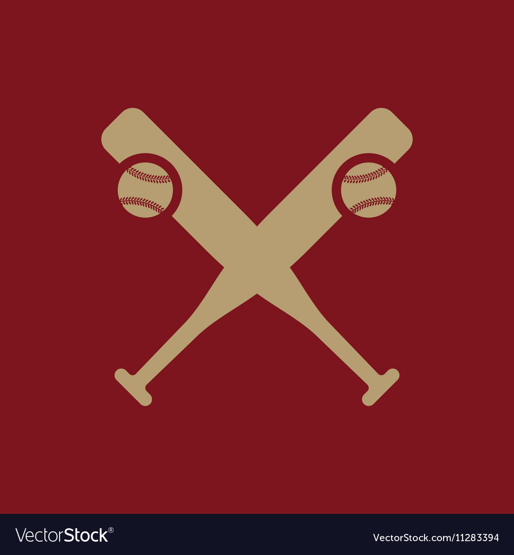 Baseball icon Sport symbol Flat