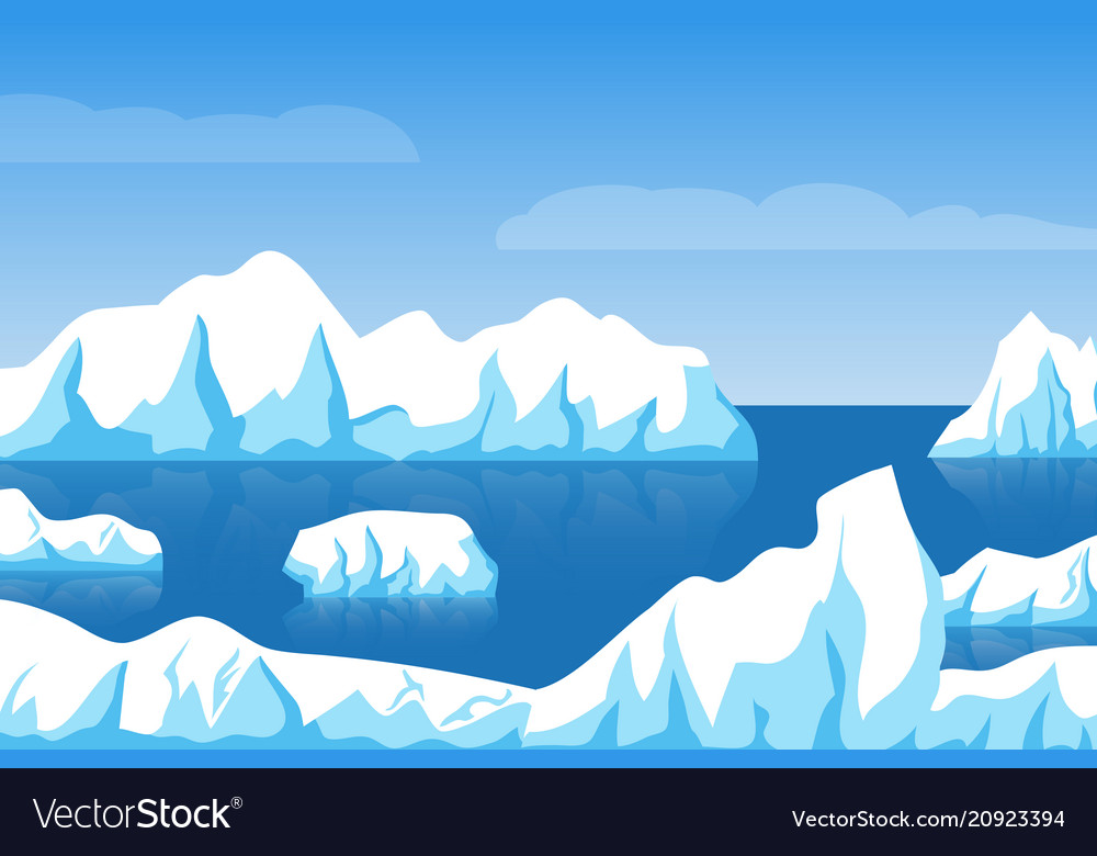 cartoon winter polar arctic or antarctic ice vector image vectorstock