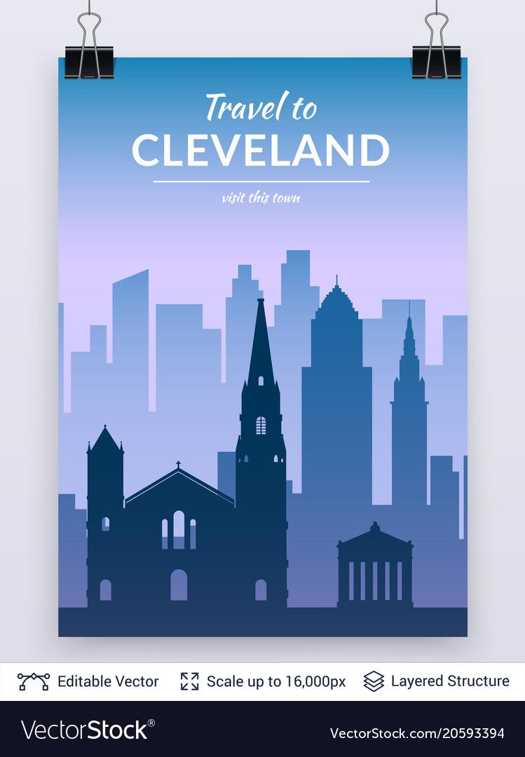 Cleveland famous city scape