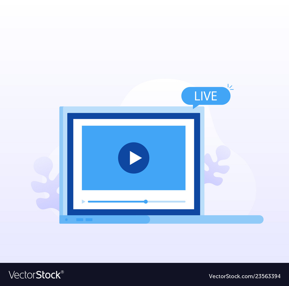 Concept live streaming watch video online