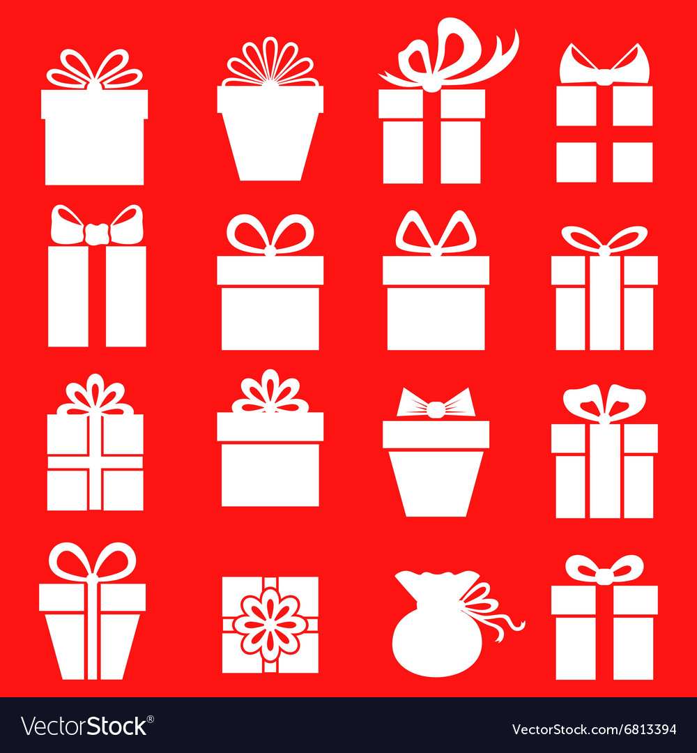 Gift set red vector image