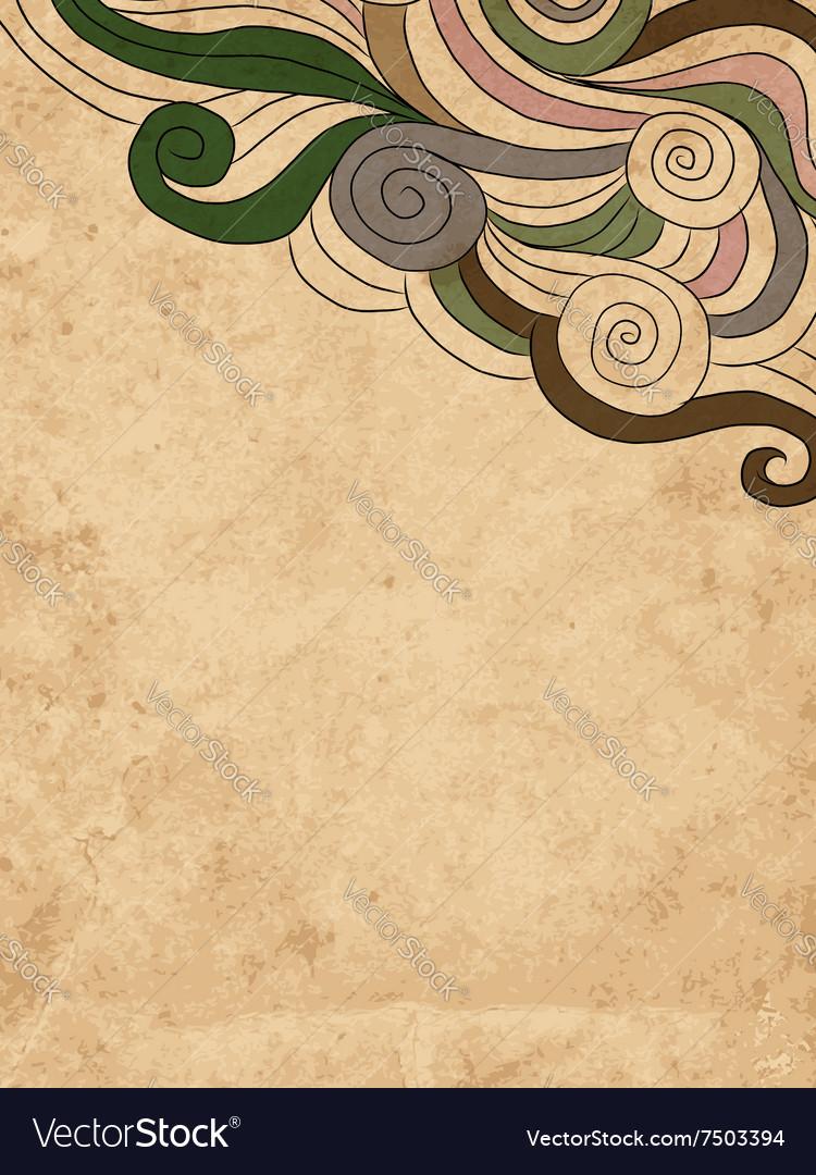 Grunge wave background for your design