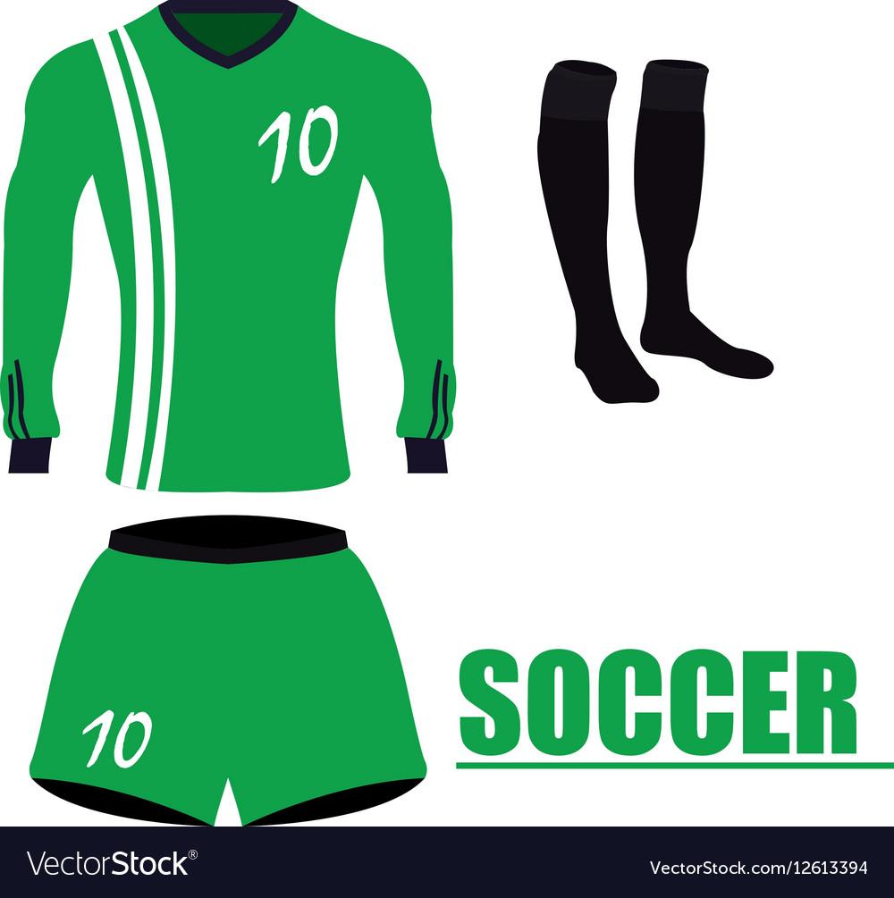 Isolated soccer uniform