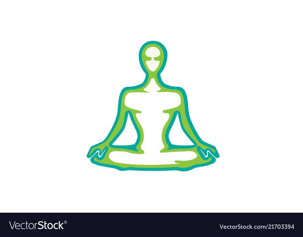 Meditation pose logo