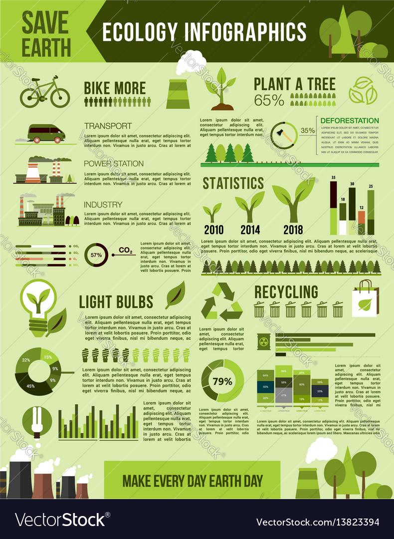 Nature conservation infographics template