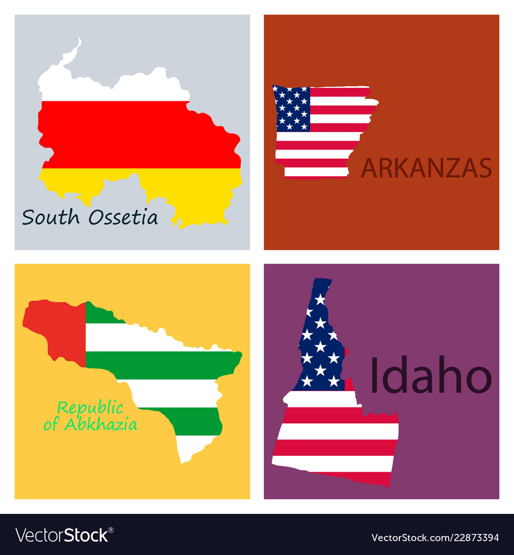 Poster map of regions in the world flag print map