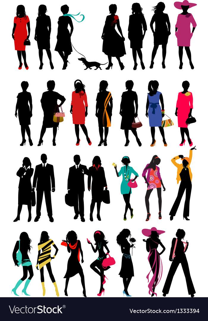 Women Fashion silhouette