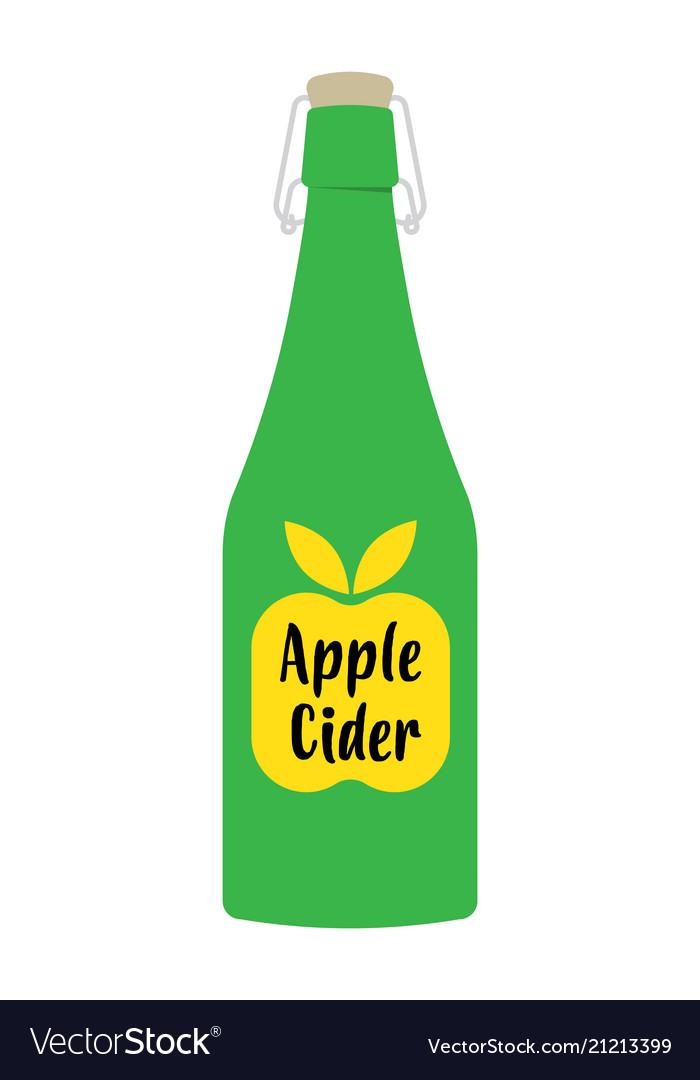 Apple cider vinegar in bottle