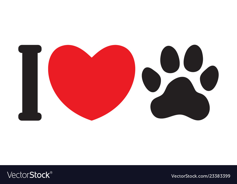 Download I love animals dogs Royalty Free Vector Image - VectorStock
