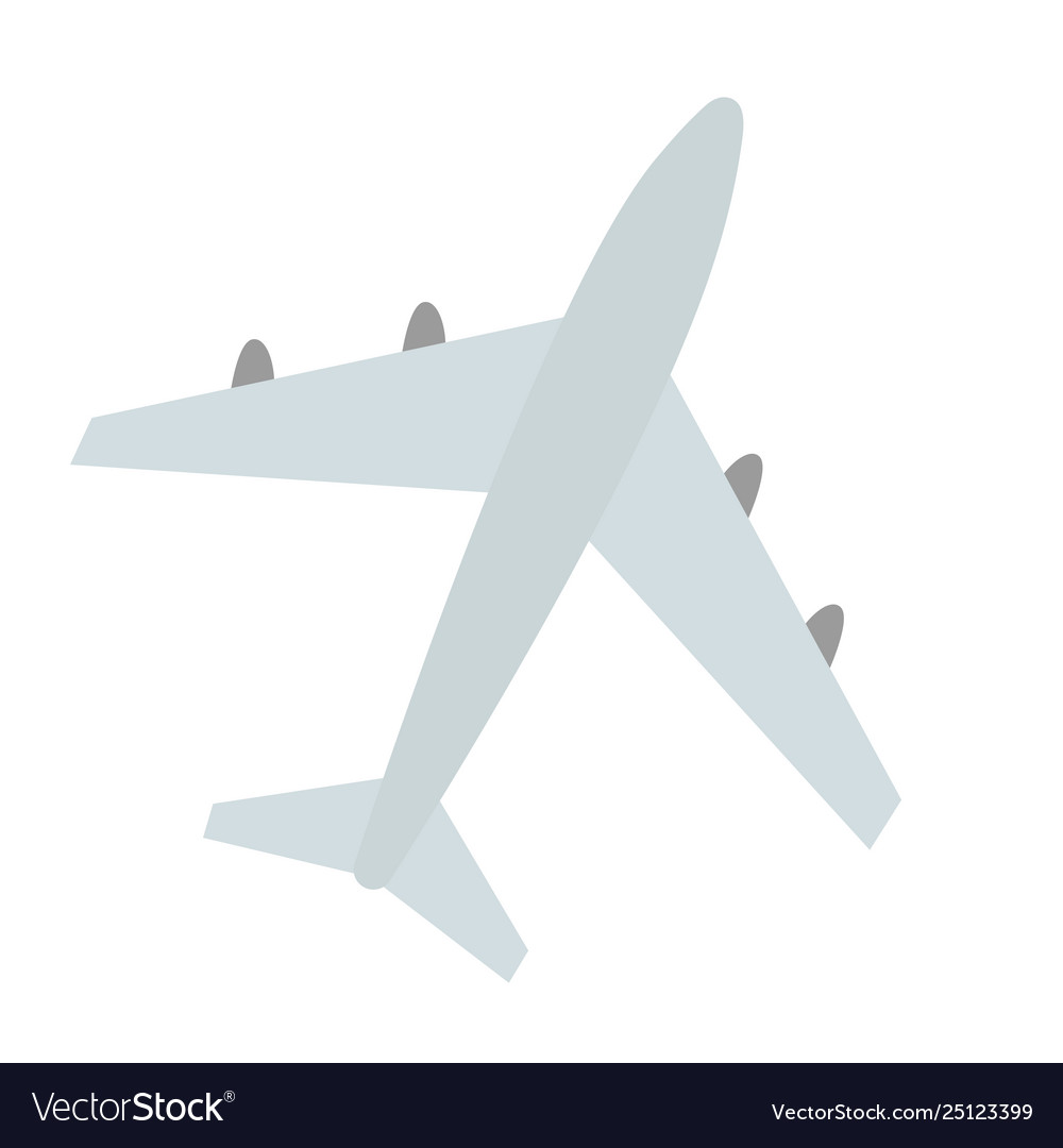 Large plane with four jet engines airplane for