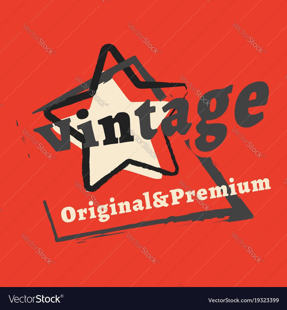 f5eca739e T-shirt print design vintage star stamp printing Vector Image