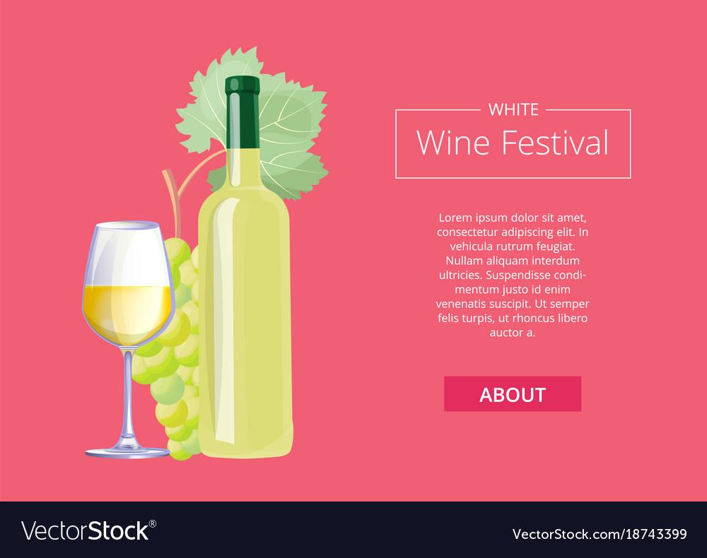 White wine festival on red