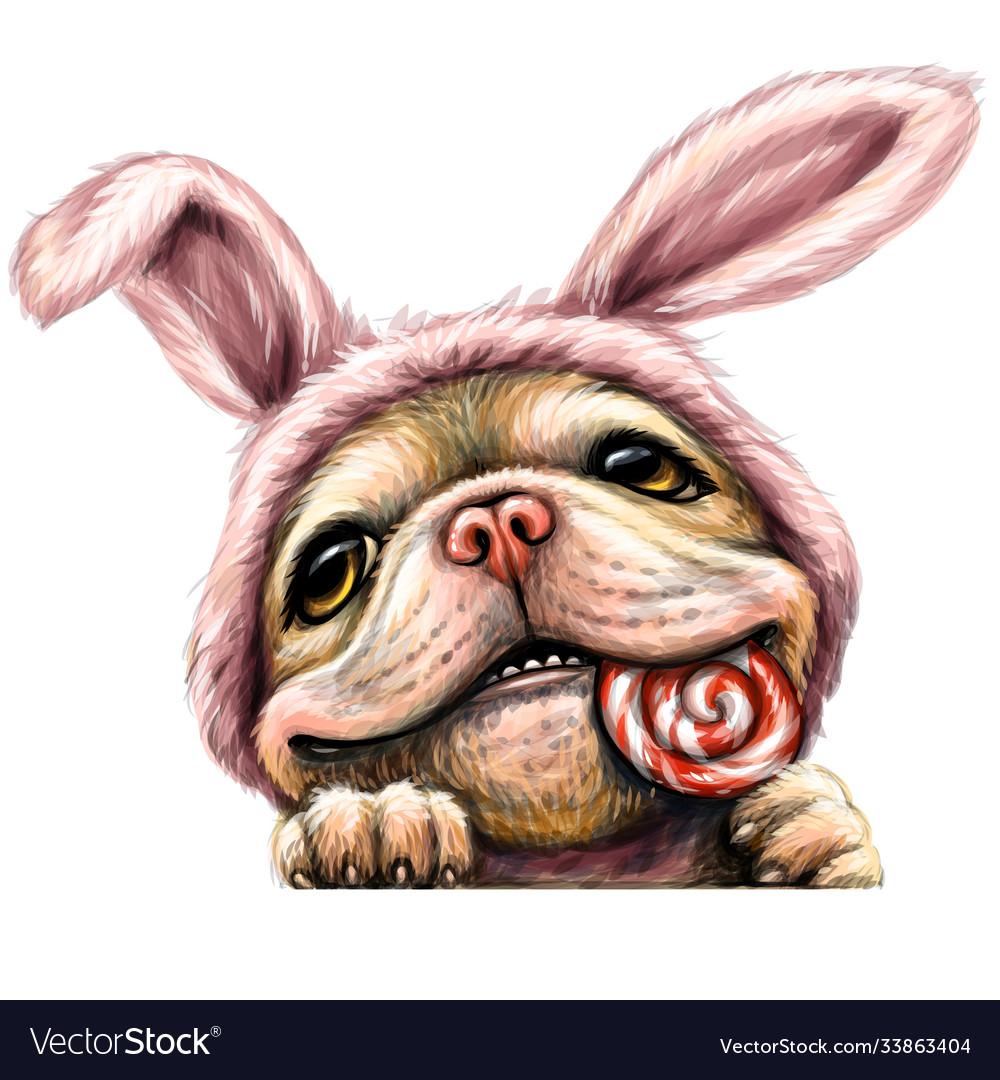A bulldog puppy wall sticker