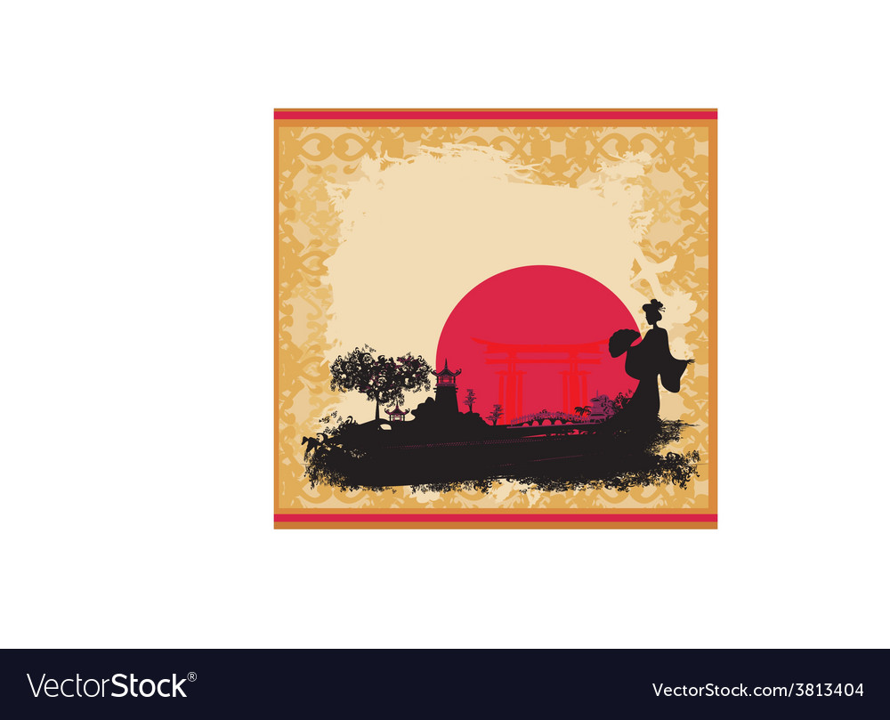 Abstract Asian Landscape and beautiful Asian