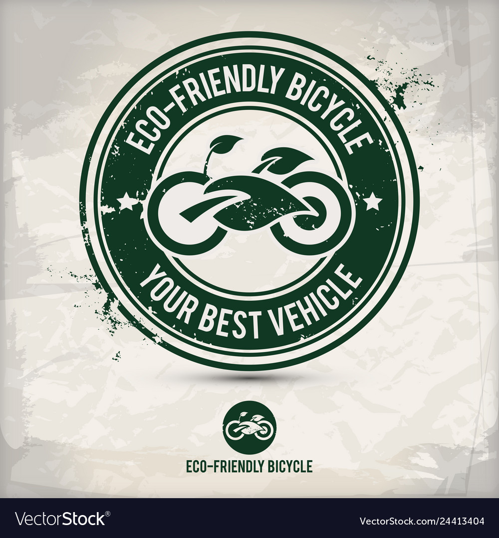 Alternative eco friendly bicycle stamp