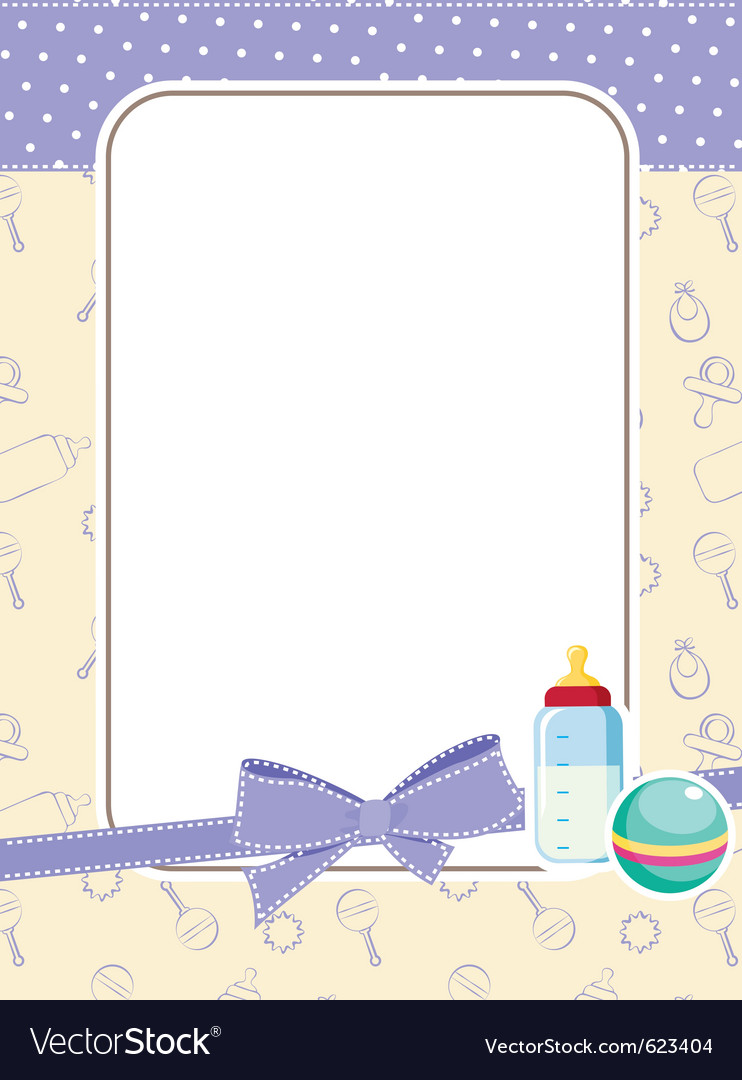 Baby frame with toys Royalty Free Vector Image