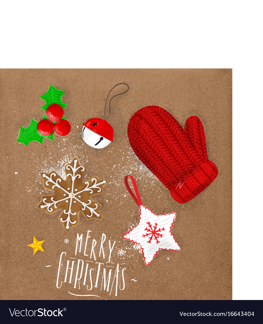 Christmas elements glove craft