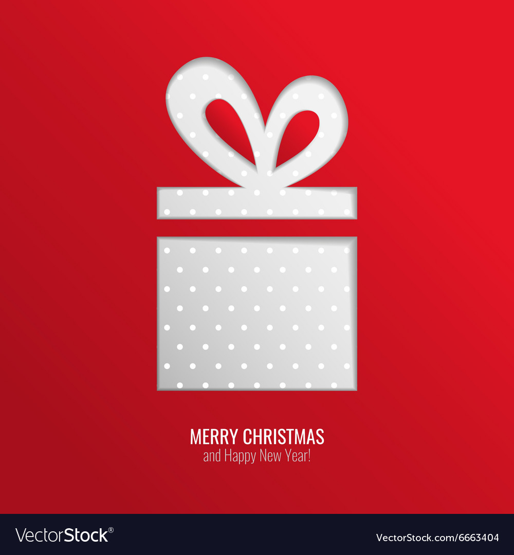 Christmas gift cut out background
