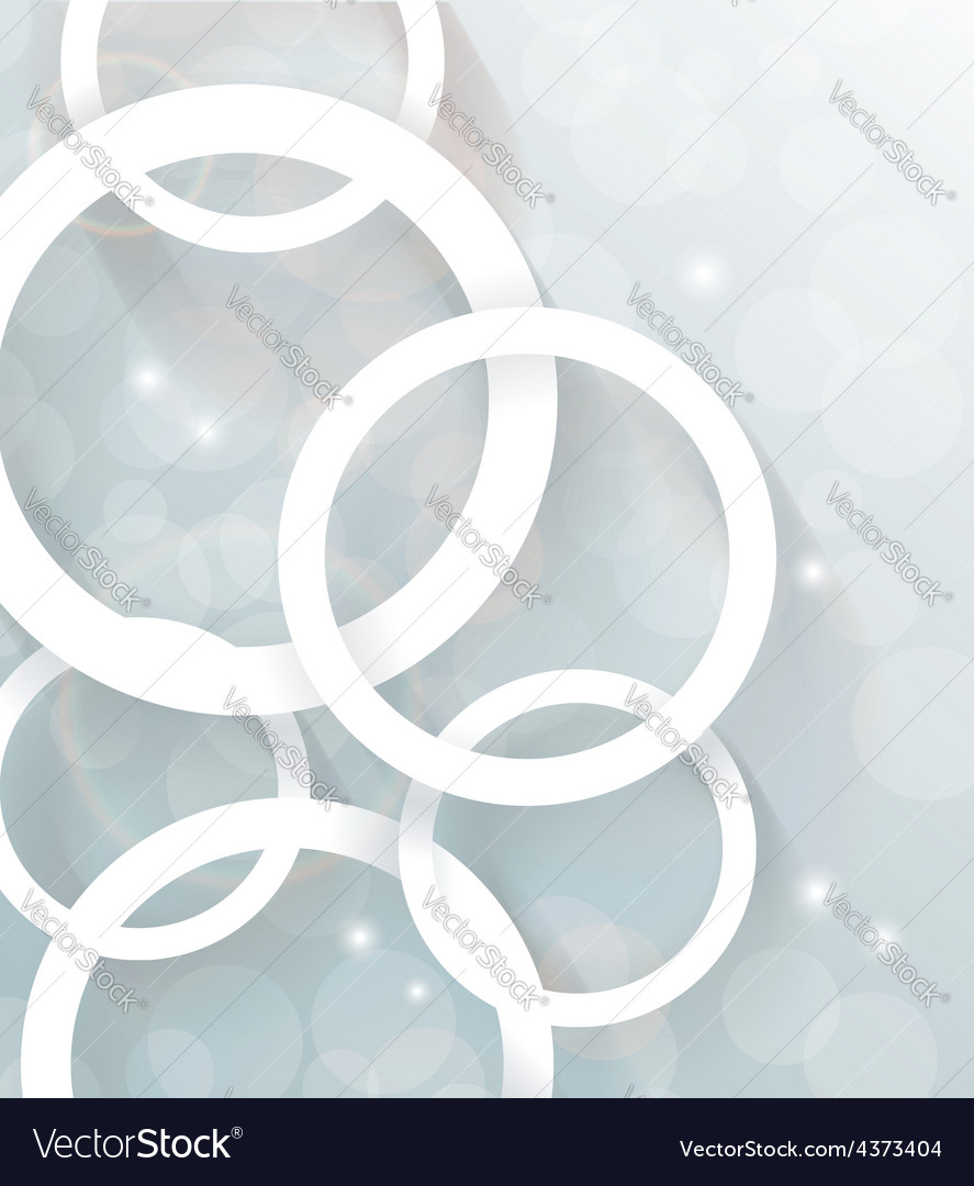 Circles background Abstract 3D Geometrical Design vector image