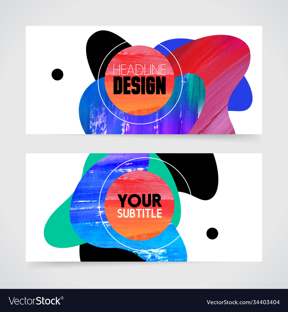 Hand drawn painting abstract design for brochure