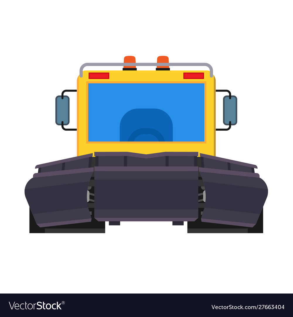 Snow plow tractor front view icon equipment