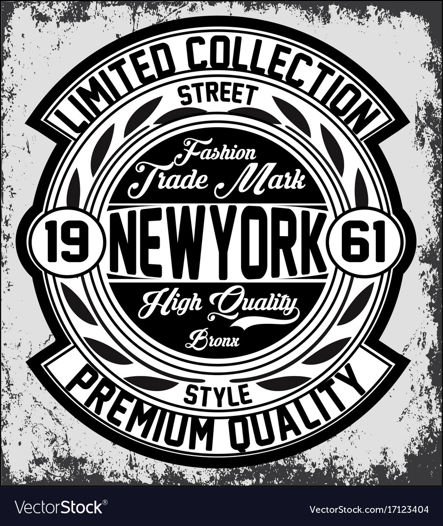 Vintage new york typography t-shirt graphics