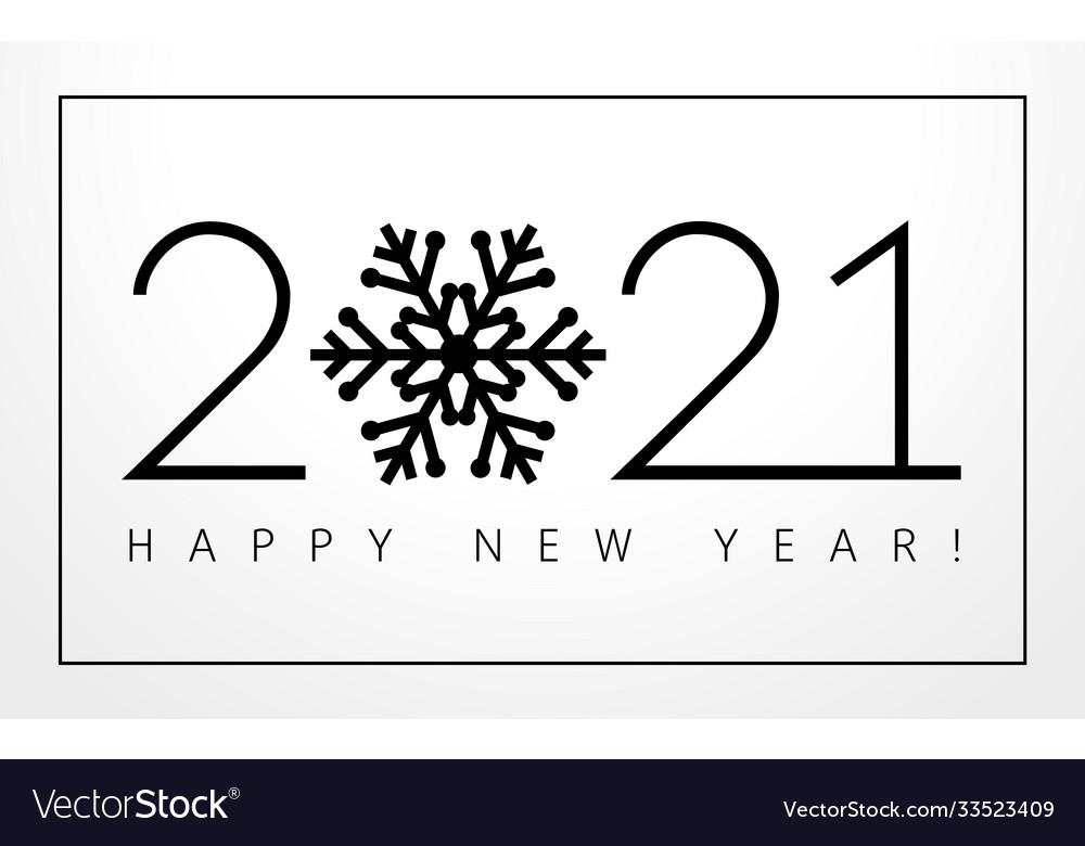 2021 new year black snowflake