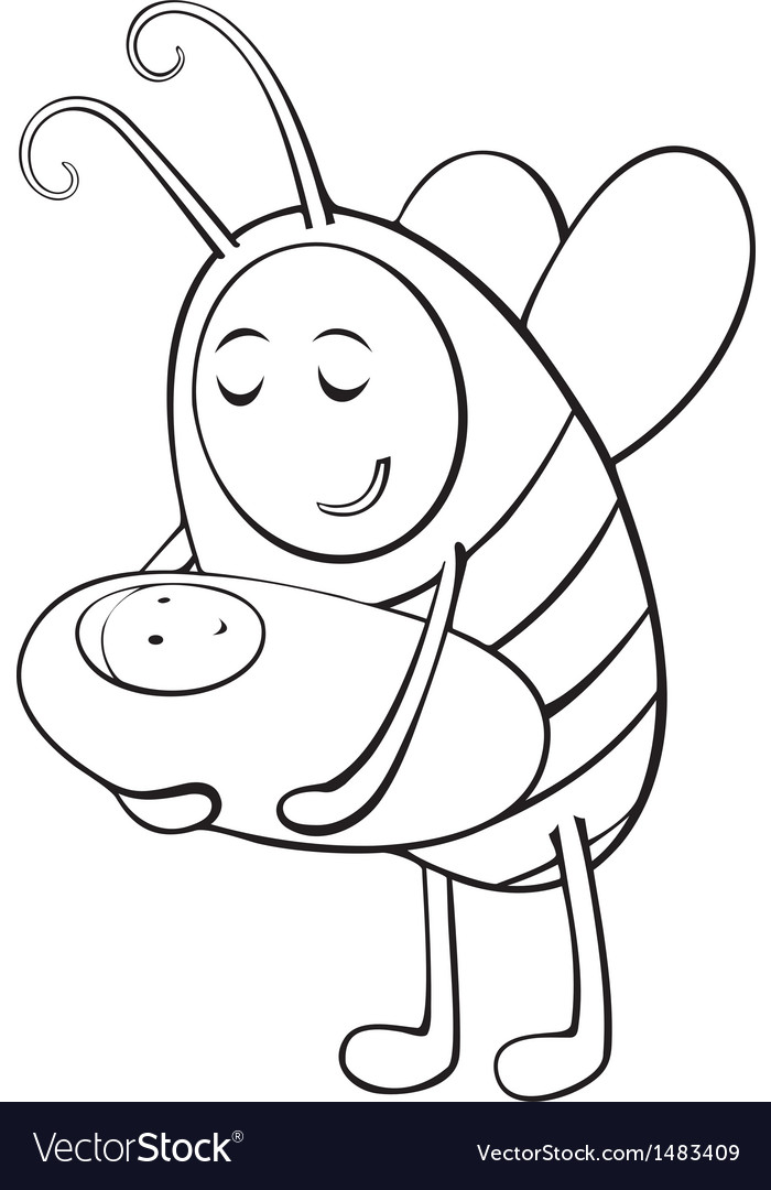 Bee mother and child